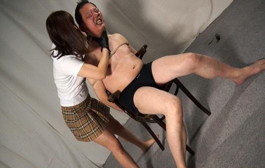 黒革手袋の如月しょうこ 芸能社長へ復讐の首絞め制裁7